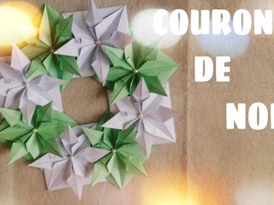 Décoration de Noël -  Comment faire COURONNE de Noël en Origami