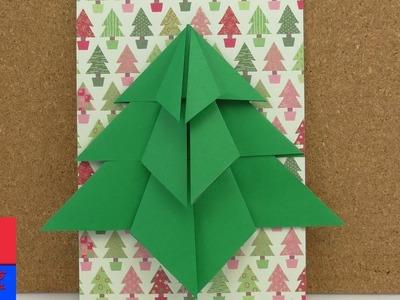 Sapin de Noël en pliage | Sapin en Origami à faire soi-même | Carte de Noël & Décoration | DIY