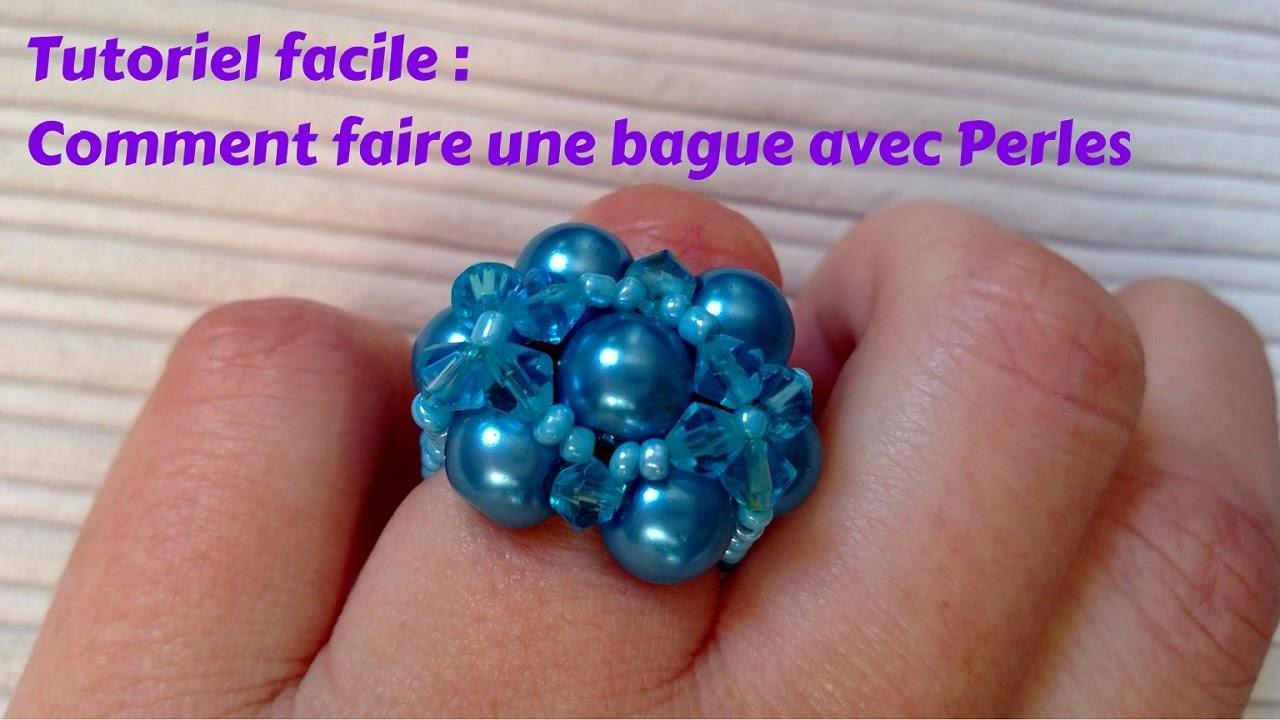 tutoriel bijoux pour d butants bague en perles. Black Bedroom Furniture Sets. Home Design Ideas