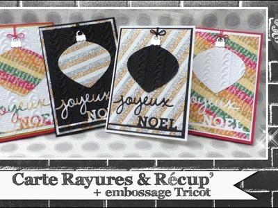 """Vidéo-Tuto """"Carte Rayures & Récup' """" par Coul'Heure Papier"""