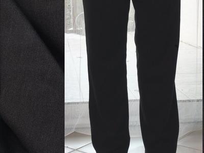 """Comment coudre un """"pantalon élastiqué à la taille"""" tout simple. Kit de chez Les Fées."""