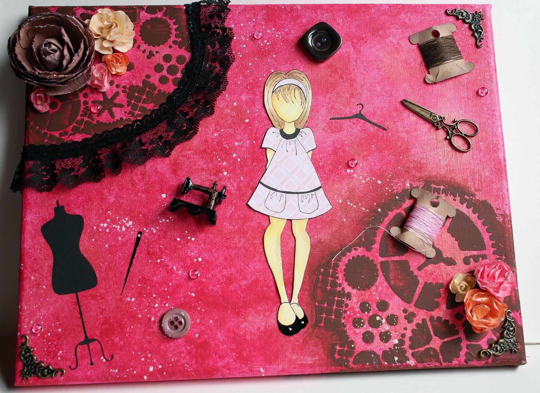 Peinture sur Toile : Couture