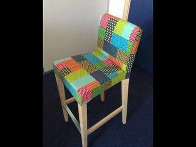 Reproduire une housse de chaise de bar avec un tissu différent - Couture