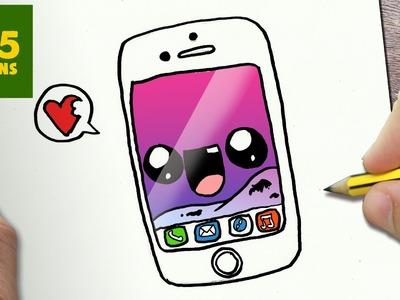 COMMENT DESSINER IPHONE 7 KAWAII ÉTAPE PAR ÉTAPE – Dessins kawaii facile
