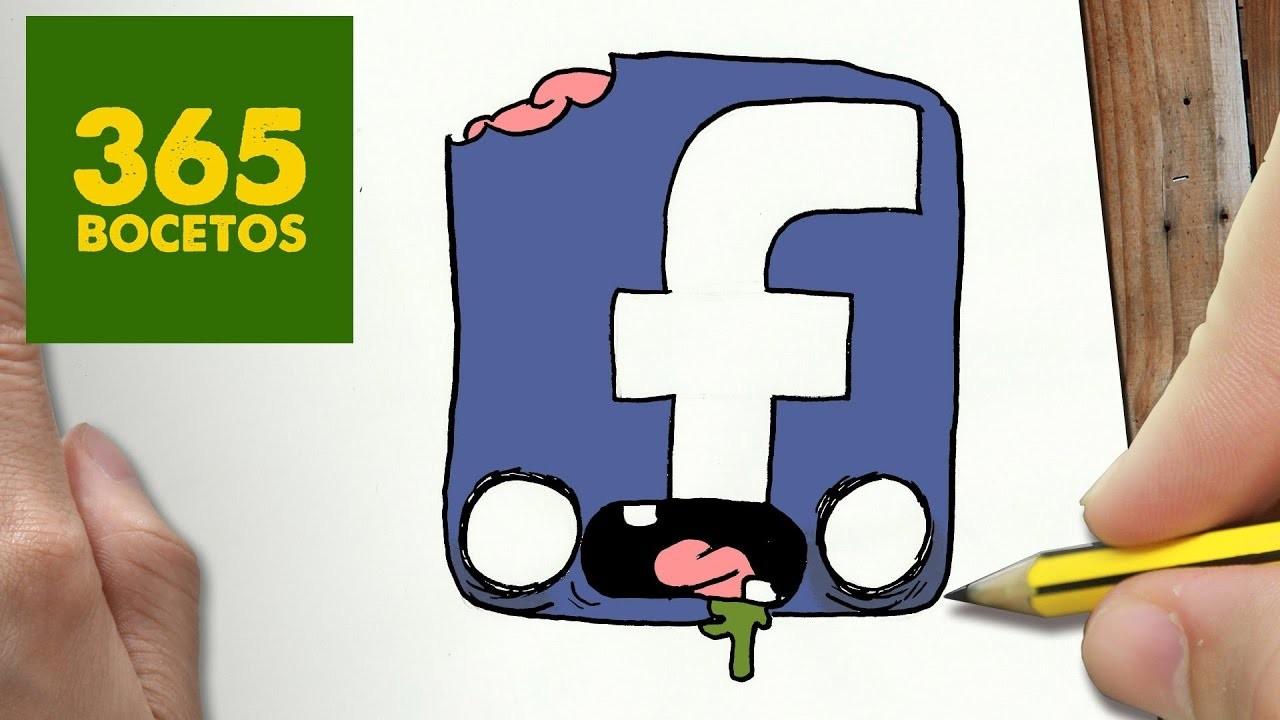 Comment Dessiner Logo Facebook Zombie Kawaii étape Par étape