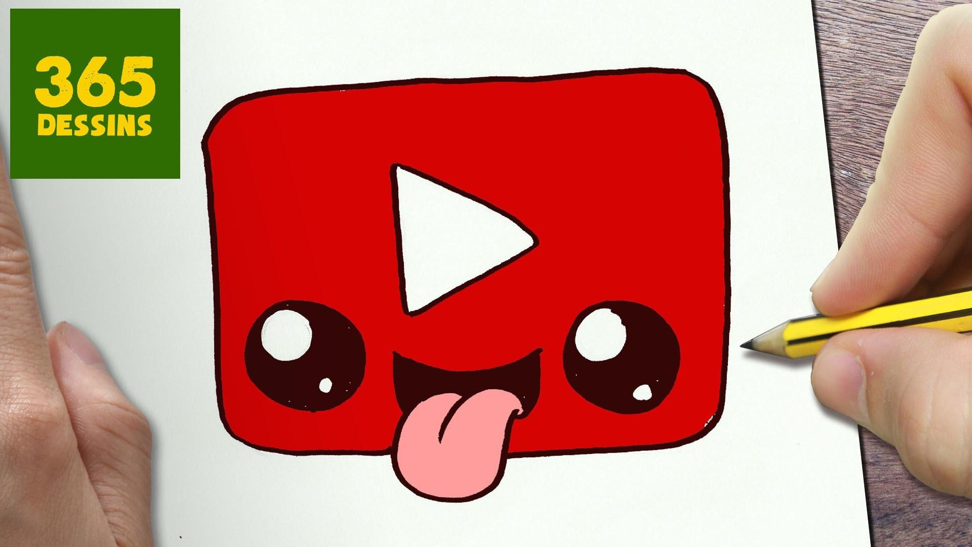 comment dessiner logo youtube kawaii tape par tape dessins kawaii facile. Black Bedroom Furniture Sets. Home Design Ideas