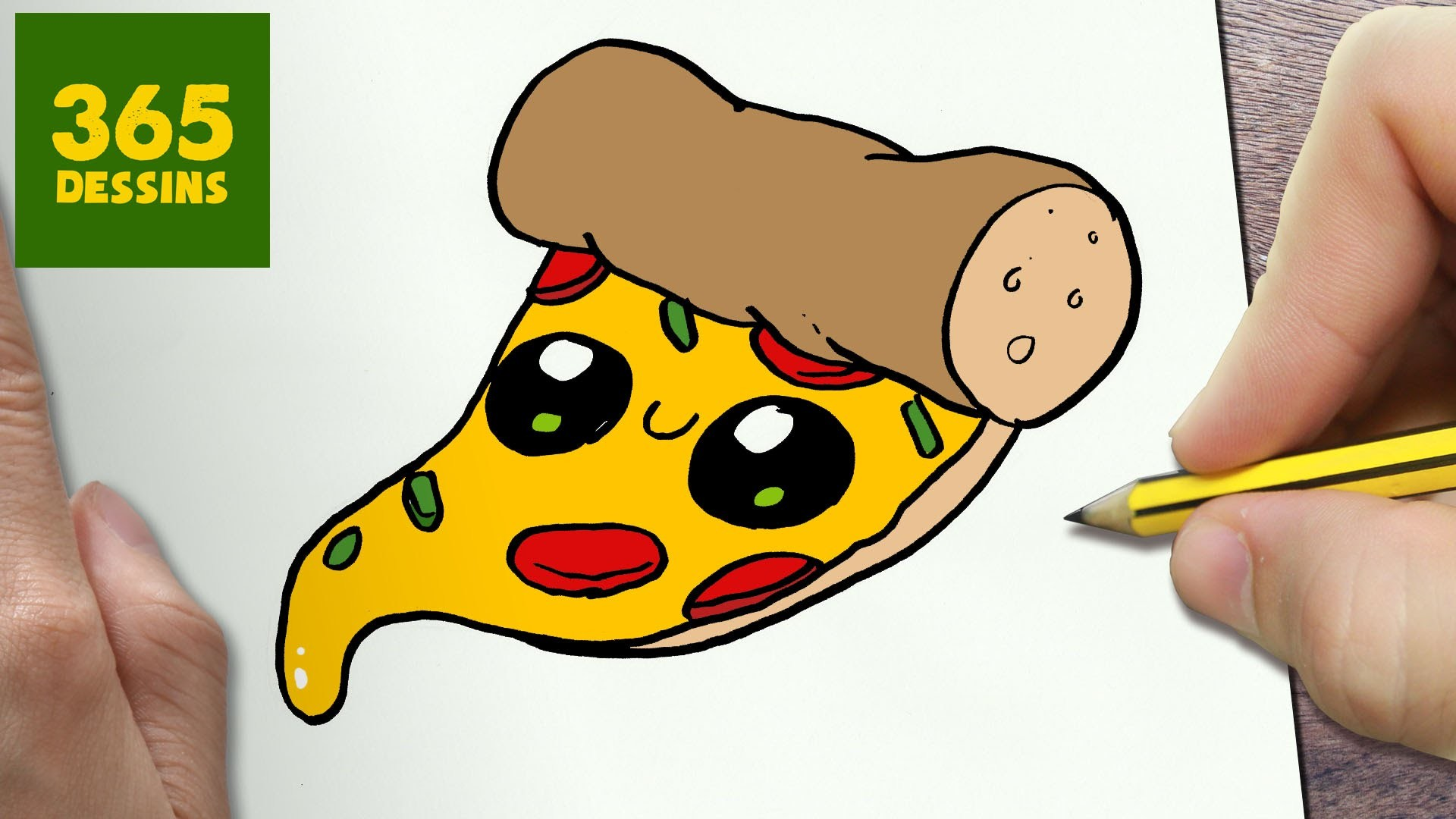 Comment Dessiner Pizza Kawaii étape Par étape Dessins