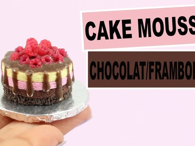 Cake mousse framboises.chocolat (Sugar Hero inspired)⎪Fimo