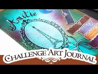 CHALLENGE: Art Journal   L'amitié MIXED MEDIA SCRAPBOOKING