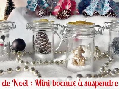 Déco de Noël : Mini bocaux à suspendre