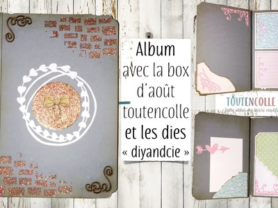 Tuto mini album box d'août 16