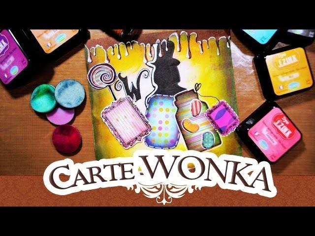 TUTO SCRAP: WILLY WONKA BONBON | CHARLIE ET LA CHOCOLATERIE | MIXED MEDIA IZINK ALADINE