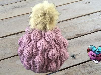 Bonnet crochet relief boules splendide. Beanie (cap, hat) bubble stitch (english subtitles)