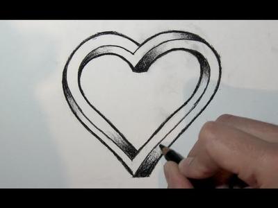 Comment dessiner un coeur 3D étape par étape