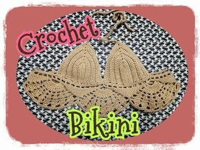 Crochet Bikini Top.bikini crochet tutorial.bikini bra crochet :ถักบิกินี่บรา.บิกินี่ถัก part 1