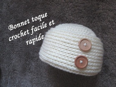 TUTO BONNET TOQUE CROCHET FACILE hat easy crochet relief GORRO RELIEVE CROCHET