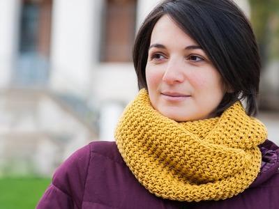 Tuto tricot : Snood au motif texturé et bordures i-cord