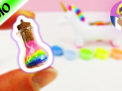 Arc-en-ciel dans un flacon | DIY Rainbow dans un petit flacon en pendentif | Sablimage Sand