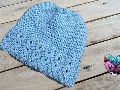 Bonnet bébé toutes tailles tricot. Baby beanie (hat) knitting all sizes (english subtitles)