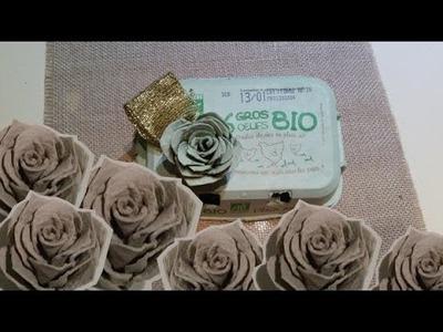 DIY: Roses en boîtes d'oeufs!  Roses with egg carton!