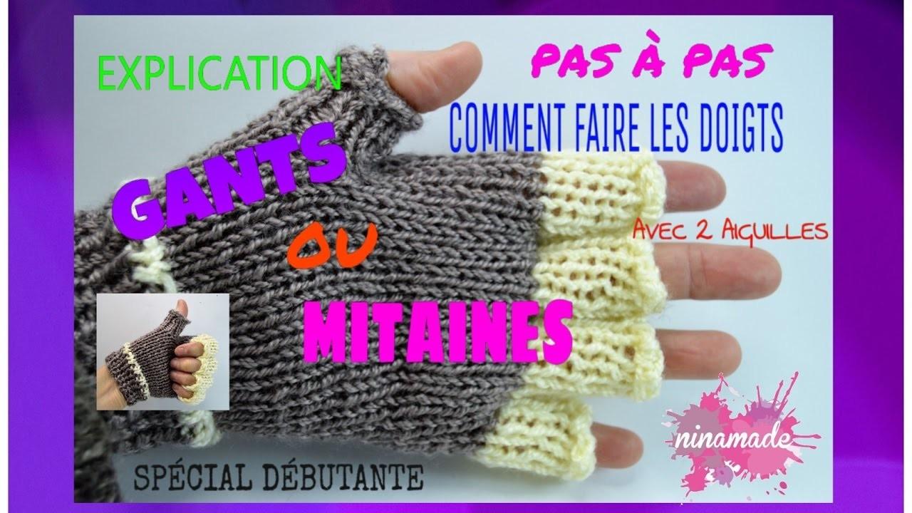 Diy tricoter les doigts de gants mitaines pas pas how - Comment tricoter des mitaines avec doigts ...
