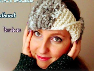 Tricot: bandeau de tête, tutoriel. Knit Headband easy