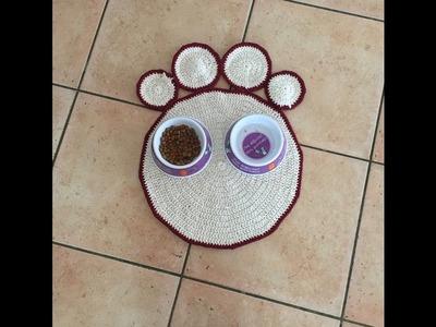Tuto tapis patte de chat au crochet