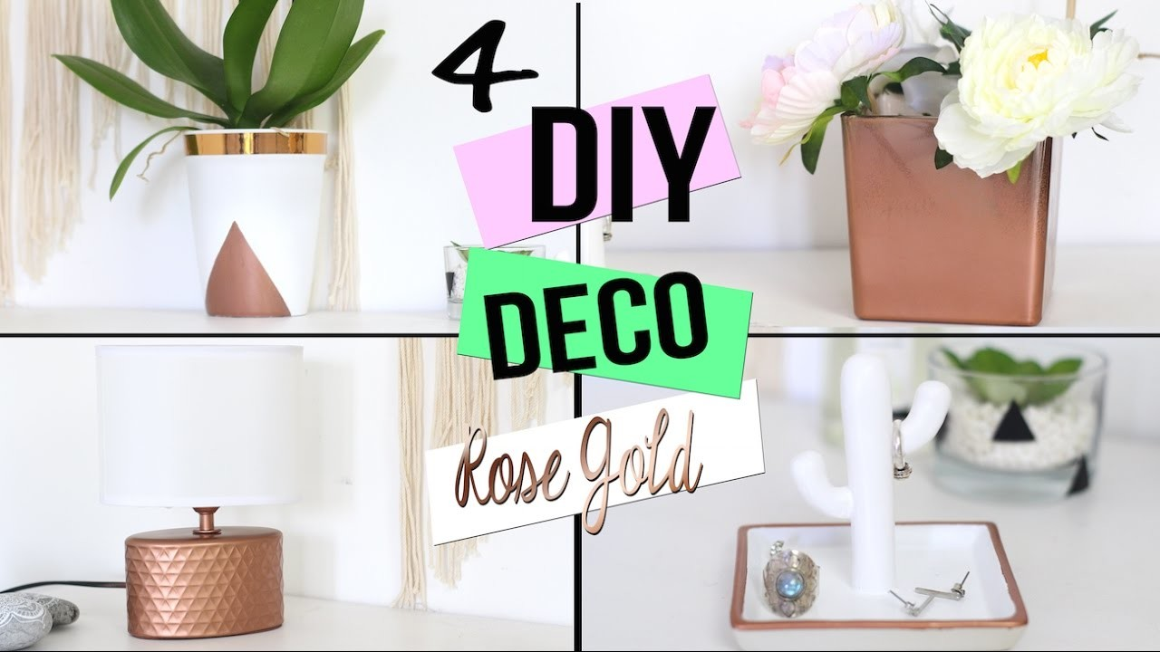 Diy 4 deco cuivre rose gold pour chambre salon bureau for Decoration maison hanouka