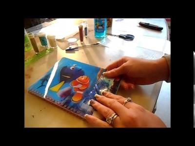 DIY :  Décoration, Customisation d'un Cahier effet gel + Fabriquation d'une Poche de Glace Gel