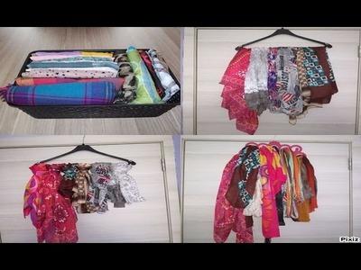Diy rangement vêtements foulards 4 astuces