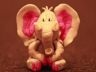 Éléphant.elephant: pâte polymère.polymer clay
