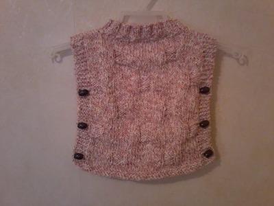 Tuto tricot pull poncho bébé
