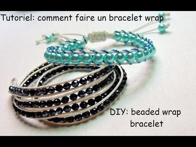 tutoriel comment faire un bracelet wrap diy beaded wrap bracelet. Black Bedroom Furniture Sets. Home Design Ideas