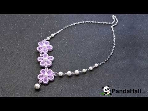 vid o 86 p comment faire un collier en papier quilling avec perles en verre nacr. Black Bedroom Furniture Sets. Home Design Ideas
