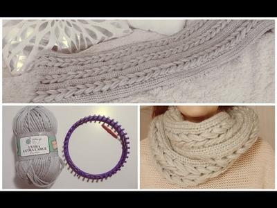 [ DIY ] Snood tressé facile au tricotin circulaire