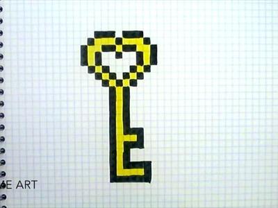 Pixel art : Comment dessiner une clé - Le monde du pixel art