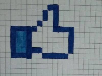 Comment dessiner un pouce bleu Pixel Art