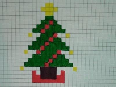 Comment dessiner un sapin de Noël Pixel Art