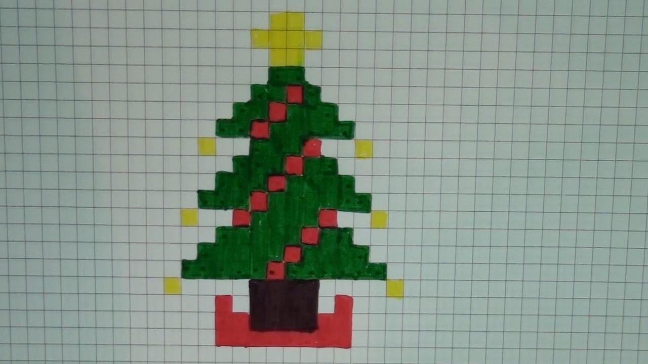 Comment dessiner un sapin de no l pixel art - Sapin de noel a dessiner ...