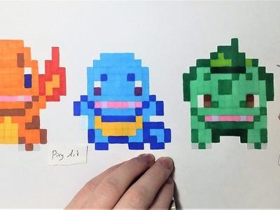 Pokemon Starters 1g - Pixel Art