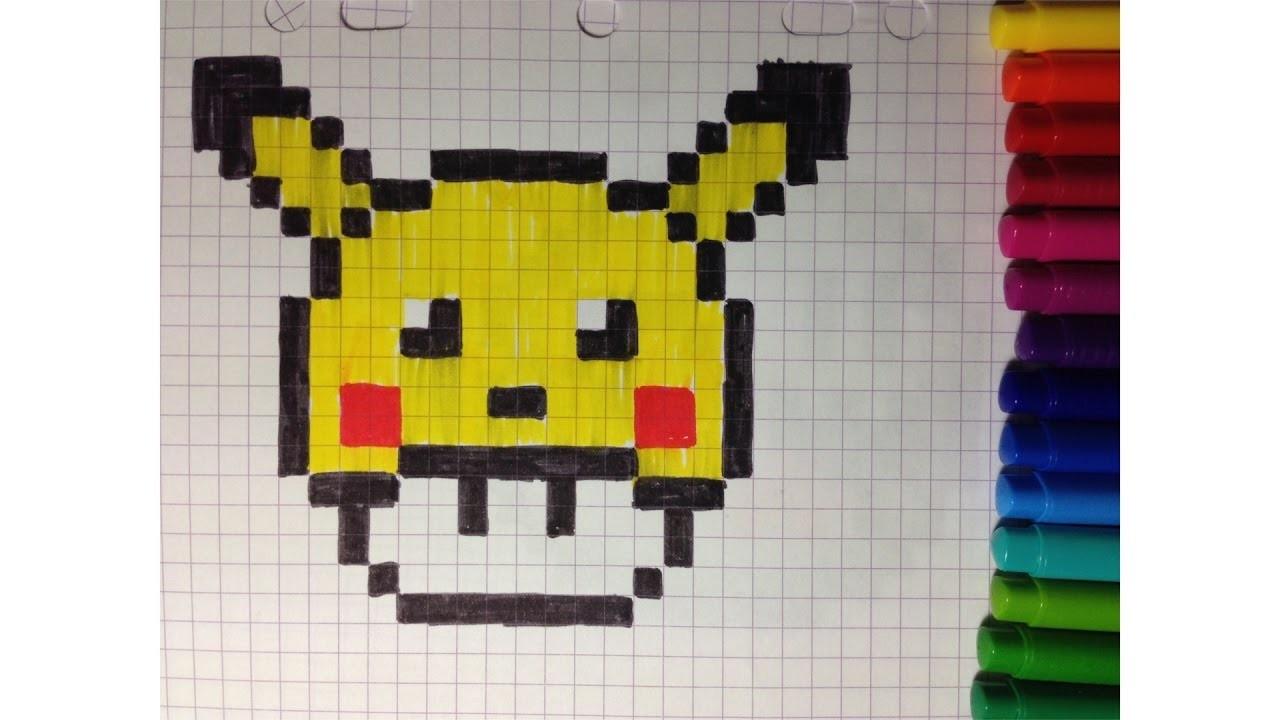 Dessin Dracaufeu Pixel