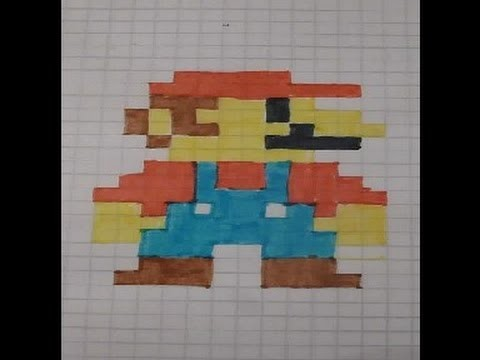 how to build pixel art mario