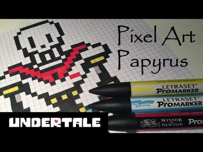 Pixel art Undertale : Papyrus