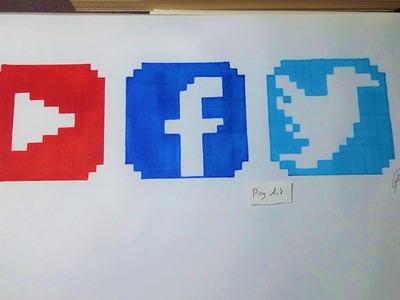 Social Media Logo - Pixel Art