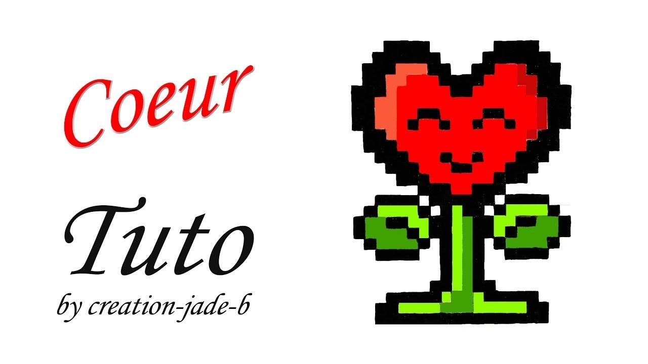 Tuto Pixel Art Coeur Fleur Kawaii Saint Valentin