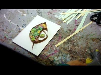 Activité créative quilling ou papier roulé pour enfants et adultes par l'artiste severine Peugniez