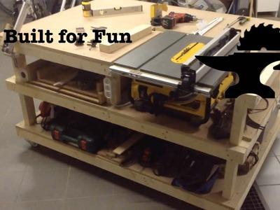 Built for Fun #16 Un établi pour ma scie sur table!. Table Saw Station