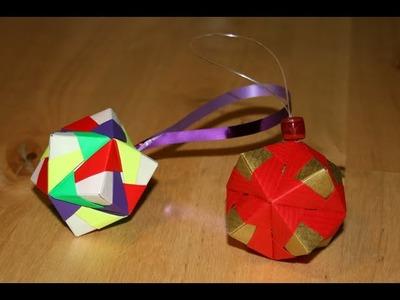 Origami - Boule de Noël - Christmas Ornament [Senbazuru]