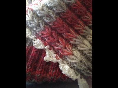 Tricoter le point joli coeur . point original et facile à réaliser !!