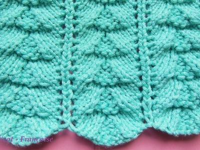 Tuto tricot point fantaisie chevrons ajourés en relief | Point de tricot fantaisie ajouré